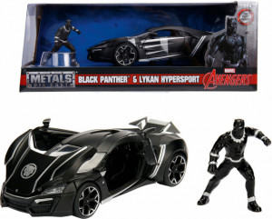 SIMBA JADA MARVEL AVENGERS LYKAN HYPERSPORT + BLACK PANTHER 1:24 322-5004