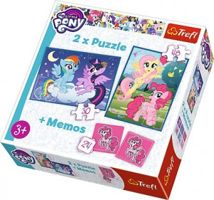 TREFL 2 X PUZZLE + GRA MEMOS MY LITTLE PONY 90601