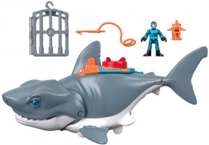 FISHER PRICE IMAGINEXT ATAK REKINA + FIGURKA  GKG77