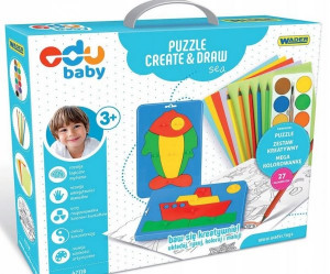 WADER EDU BABY PUZZLE CREATE & DRAW MORZE 42110